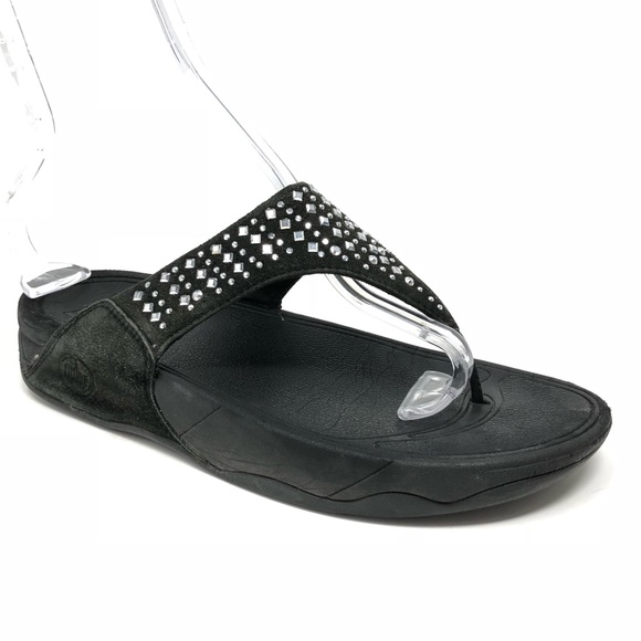 b1aea33a4 Fitflop Shoes - Fitflop Novy Studded Women Thong Sandals Black 8